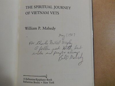 """""""Out of the Night-The Spiritual Journey of Vietnam Vets""""-signed William P Mahedy"""