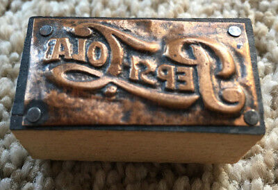"Nice Antique Pepsi Cola 1.5"" Printing Block"