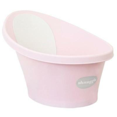 Shnuggle Baby Bath Tub Wash Foam Backrest Bum Bump Support Washing Rose