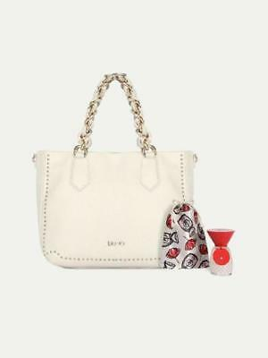 Borsa Liu Jo Lovely U A18020 Shopping Bag Love You Bianco Soia + Profumo  Saldi 14621140dfb