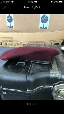 Army Maroon Beret (size 7 1/8)