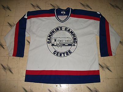 2cc70179324 Vintage Canadian Minor Rec Beer League Game Used Hockey Jersey Maska Knit  Size54