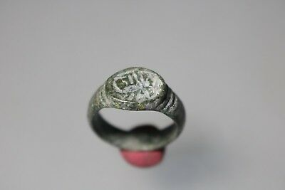 Ancient Fantastic Roman Bronze Ring with Scorpion 1st - 4th century AD
