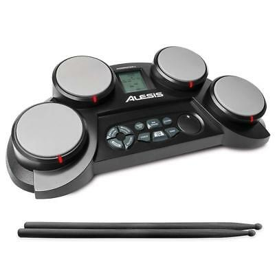 Electric Drum Kit 4 Pads Percussion Drumsticks Practice Portable Touch New Gift