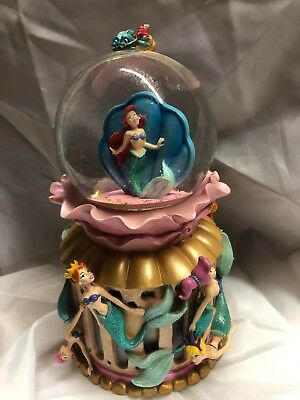 Disney Little Mermaid Ariel and her sisters snowglobe RARE