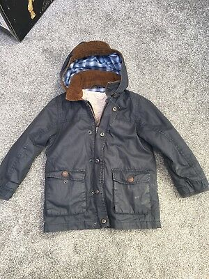Boys Next Wax Jacket Size 3-4 Years