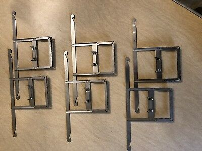 """LOT OF 6 Vintage Carr Film Developing Hangers 3""""x4"""" Stainless"""