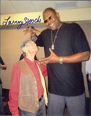 F Troop Larry Storch  autographed 8x10  photo with New York Knicks Patrick Ewing