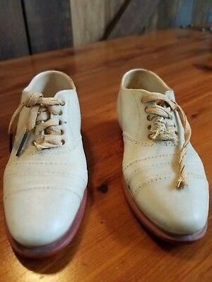 Vintage Small Porcelain painted Men's shoe with shoelace - number on sole 335843