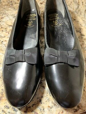 BROOKS BROTHERS Men's Formal Tuxedo Slippers with Grosgrain Ribbon Bow 10B