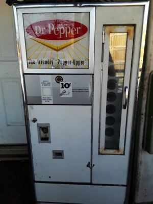 VINTAGE . Dr Pepper Custom  VENDING MACHINE