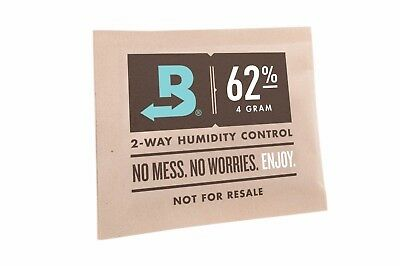 50x Packs Boveda 62% Small - 2 Way Humidity Control 2 Way Humidor Cigar 8 Gram