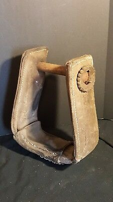 Vintage Leather Horse Saddle Stirrup Western Decor antique collection gift wood