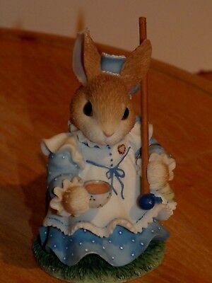 '98 ENESCO MY BLUSHING BUNNIES CLARISSA COTTONTAIL Tea With You is Sweet Indeed