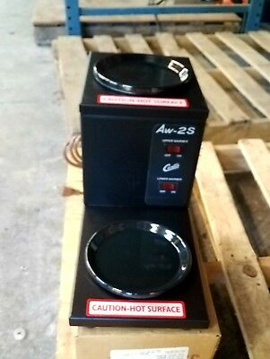 NEW Wilbur Curtis AW-2S Decanter Coffee Warmer, Step Up Warmer,
