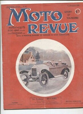 Moto Revue N°87 ;1er novembre 1921 : motosacoche ,scooter Reynold's runabout