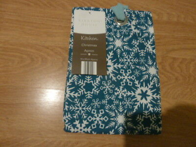 Kirkstone House Green With Snowflake Christmas Apron. New With Label.