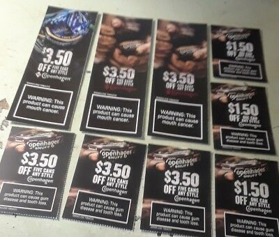Copenhagen Smokeless Tobacco Coupons **********$Ave Huge**********