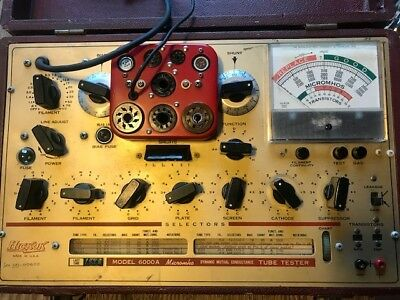 HICKOK Model 6000A Micromho Dynamic Mutual Conductance Tube Tester
