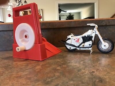 Vintage Evel Knievel Stunt Cycle With Launcher by Ideal 1973
