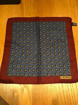 Cordings Cashmere Mens Pocket Square