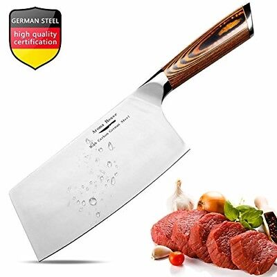 Aroma House Chinese Chef's Knife-7 inch Vegetable and Meat Cleaver Knife, German