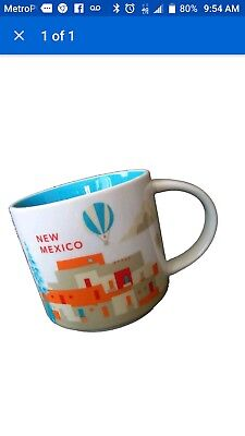 Starbucks New Mexico You are Here YAH 14 Oz Collector Mug ~ MIB ~ Mint in Box