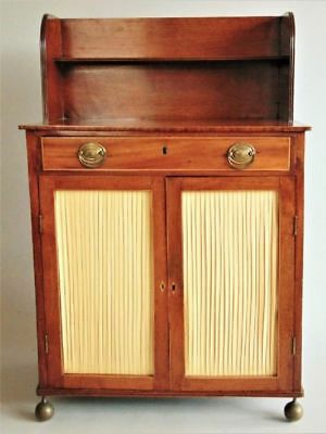 Regency Mahogany Cabinet Secretaire  Manner of Gillows