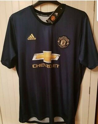 Men's Manchester United 2018/19 CL Away Shirt - XL - Chris 7 print New