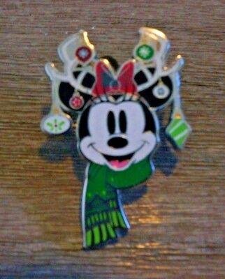 Minnie Mouse Christmas Reindeer Scarf Ornaments Disney Trading Pin