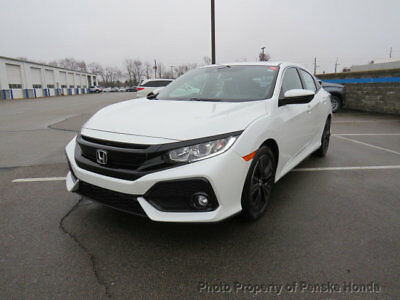 2019 Honda Civic Hatchback EX CVT EX CVT New 4 dr Sedan CVT Gasoline 1.5L 4 Cyl White Orchid Pearl