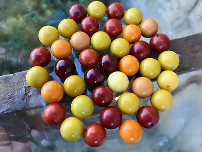 Year-end Clean-out 40 Bakelite 15mm Miscellaneous Colored Beads Some With Holes