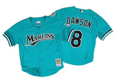 Brand New Mitchell and Ness Miami Marlins MLB Men's Athletic Jersey [7339A]