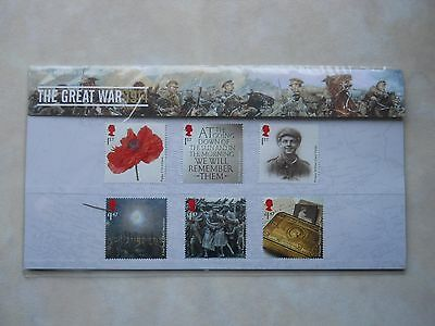 The Great War 1914 Commemorative Postage Stamps Presentation Pack NEW