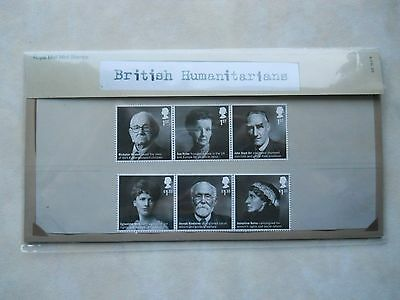British Humanitarians Commemorative Postage Stamps Presentation Pack NEW