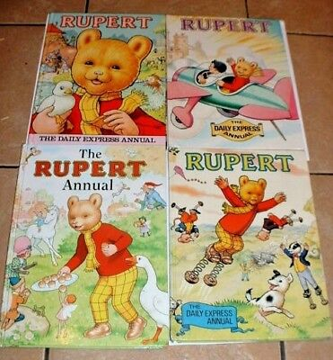A Collection of Rupert Bear Annuals 1981- 1982- 1983- 1998    Condition - Good