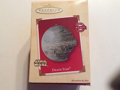 Hallmark Ornament Star Wars Death Star 2002 Light & Voice