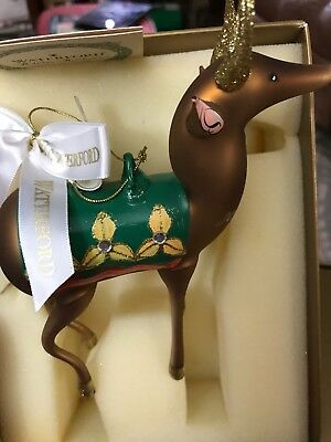 "Waterford Holiday Heirlooms Limited Edition ""YESTERYEAR REINDEER"" ORNAMENT"