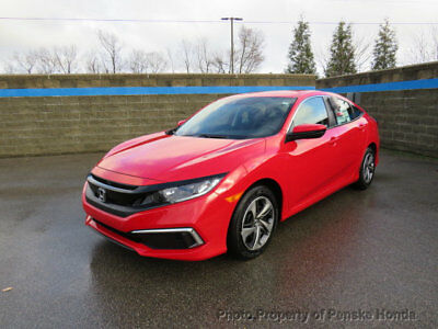 2019 Honda Civic Sedan LX CVT LX CVT New 4 dr Sedan CVT Gasoline 2.0L 4 Cyl Rallye Red