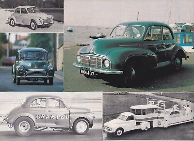 65 LOT Vintage MORRIS MINOR (only) Cars, Great Variety of Magazine Clips