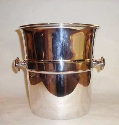 Lovely Large Christofle Art Deco Silver Plated Wine Champagne Cooler Ice Bucket