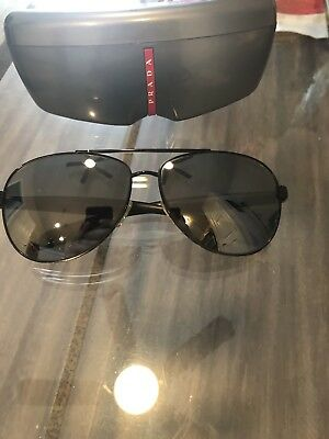 be6e60a147 Prada SPS 53P 1BO-7W1 Sunglasses Black Frames Black Lenses 62mm  Case