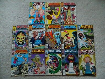 COMPLETE SET / MASTERS of the UNIVERSE #1 - #13 ( HE - MAN ) 1986 / ONE OWNER