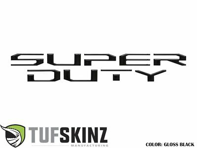 Tufskinz Inserts! Black tailgate inserts for 2017+ Super Duty - SUP004-BLK