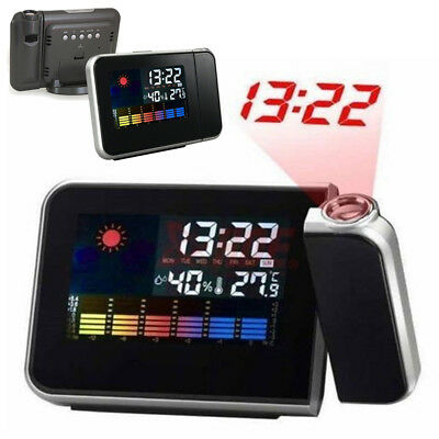 Weather Projection Snooze Alarm Clock Digital LED Backlight Home Ornament 1 PC