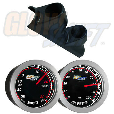 GlowShift Tinted Series Dual Pillar Gauge Package for 93-02 Ford Ranger