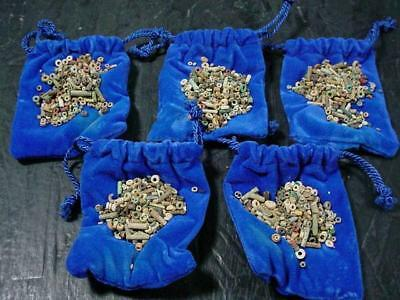 NobleSpirit NO RESERVE (3970) x5 Pouches of Egyptian Nile Faience Beads