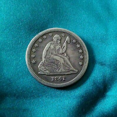 1841 Seated Liberty Quarter Exceptional coin!