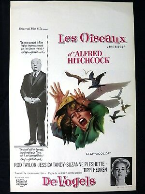 The Birds  Alfred Hitchcock    Belgian Movie Poster