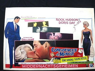 Pillow Talk  Doris Day  Rock Hudson   Belgian Movie Poster